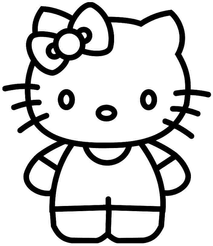 Hello kitty clipart black and white black and white Free Cartoon Kitty Pictures, Download Free Clip Art, Free ... black and white