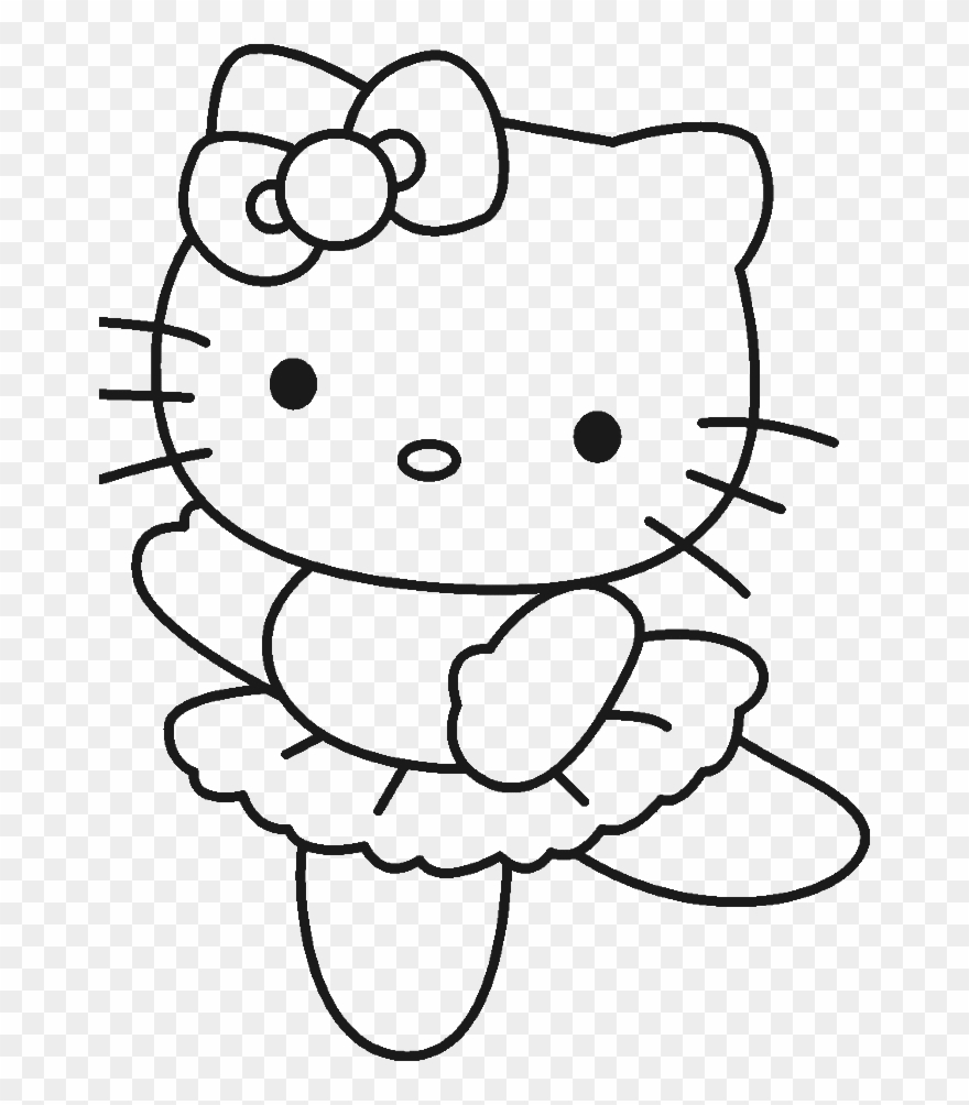 Hello kitty clipart black and white svg stock Color Pages Of Hello Kitty - Hello Kitty Coloring Pages ... svg stock