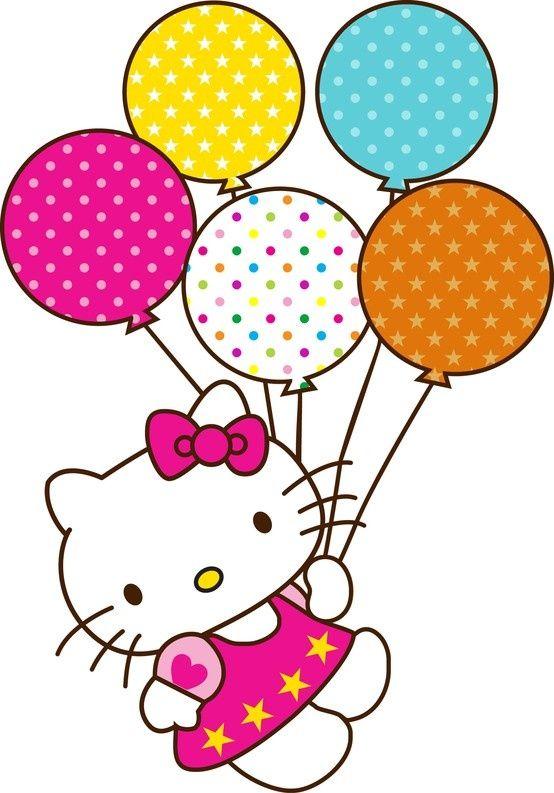 Hello kitty clipart jpg picture royalty free stock Hello Kitty Birthday Balloons Clipart Babyt Shower Ideas | cake ... picture royalty free stock