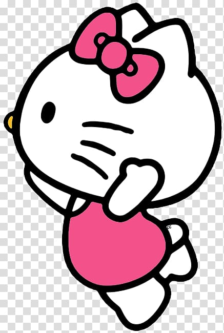 Hello kitty looking clipart