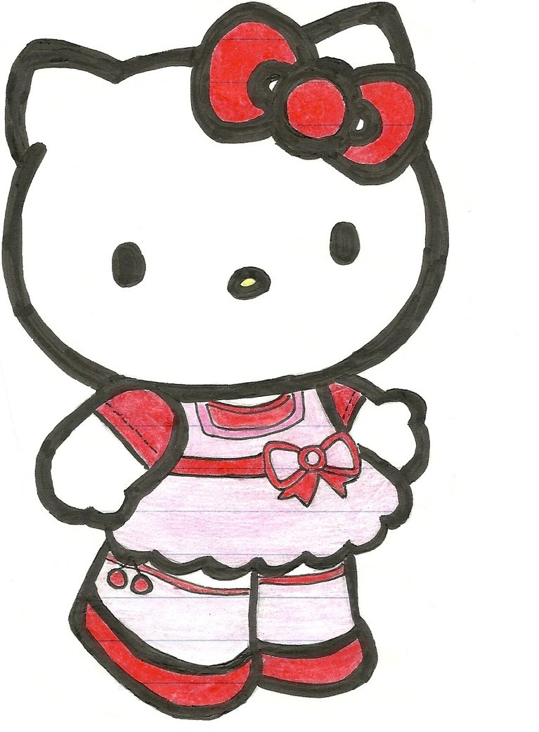 Hello kitty valentine clipart vector library stock Hello Kitty Valentine Clip Art free image vector library stock