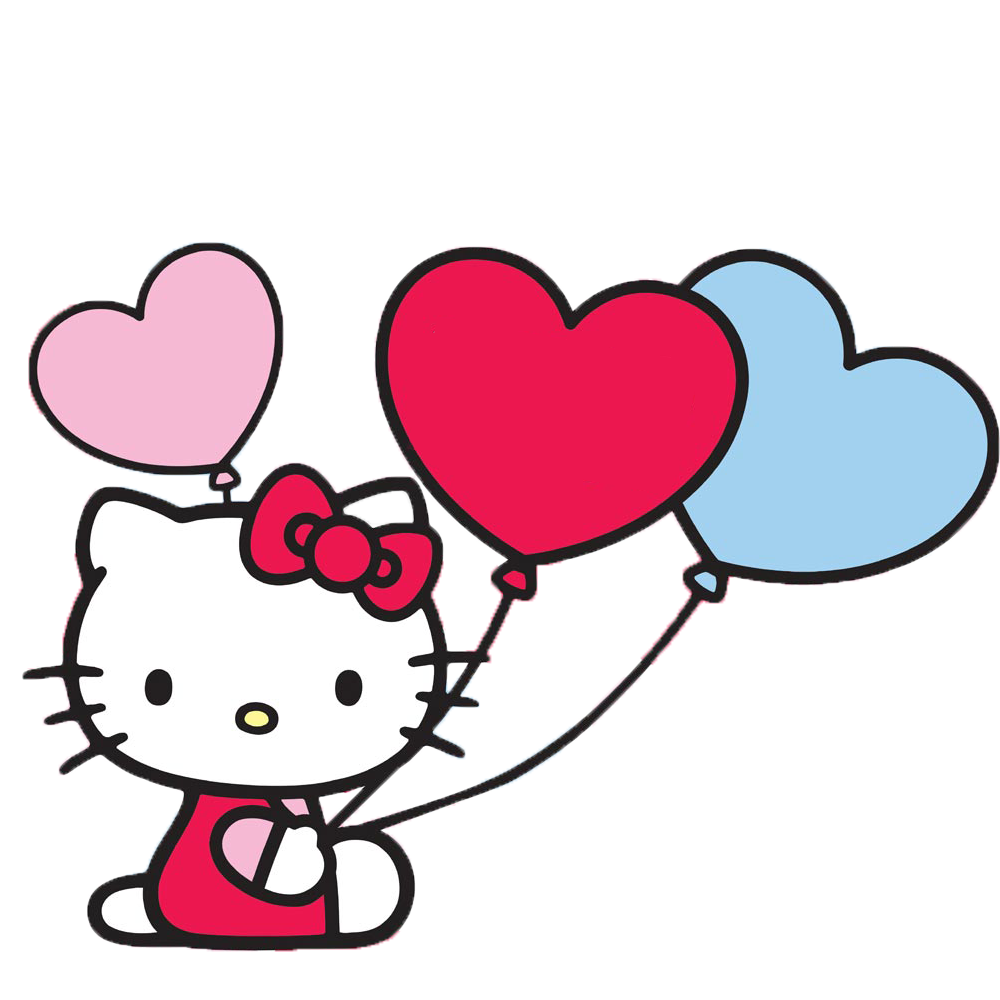Hello kitty valentine clipart graphic black and white Valentine clipart kitty, Valentine kitty Transparent FREE ... graphic black and white
