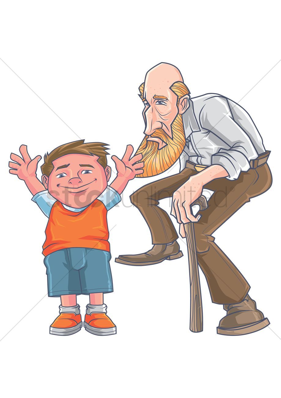 Help old man clipart clip art stock Young boy with an old man Vector Image - 1990940 ... clip art stock