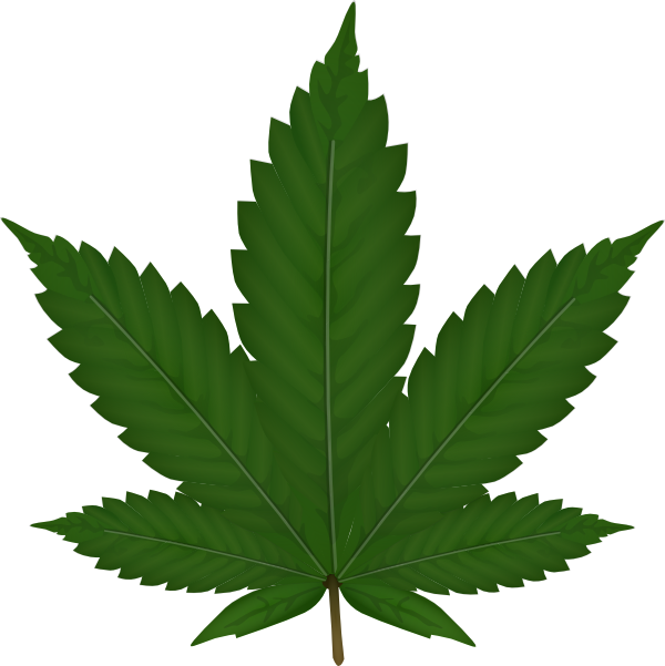 Hemp leaf clipart clip art royalty free download Cannabis Leaf Clip Art at Clker.com - vector clip art online ... clip art royalty free download