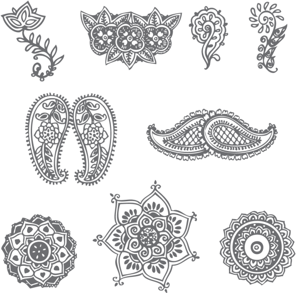 Henna cross clipart banner black and white download These are a few very simple henna patterns. Description from hdwalls ... banner black and white download