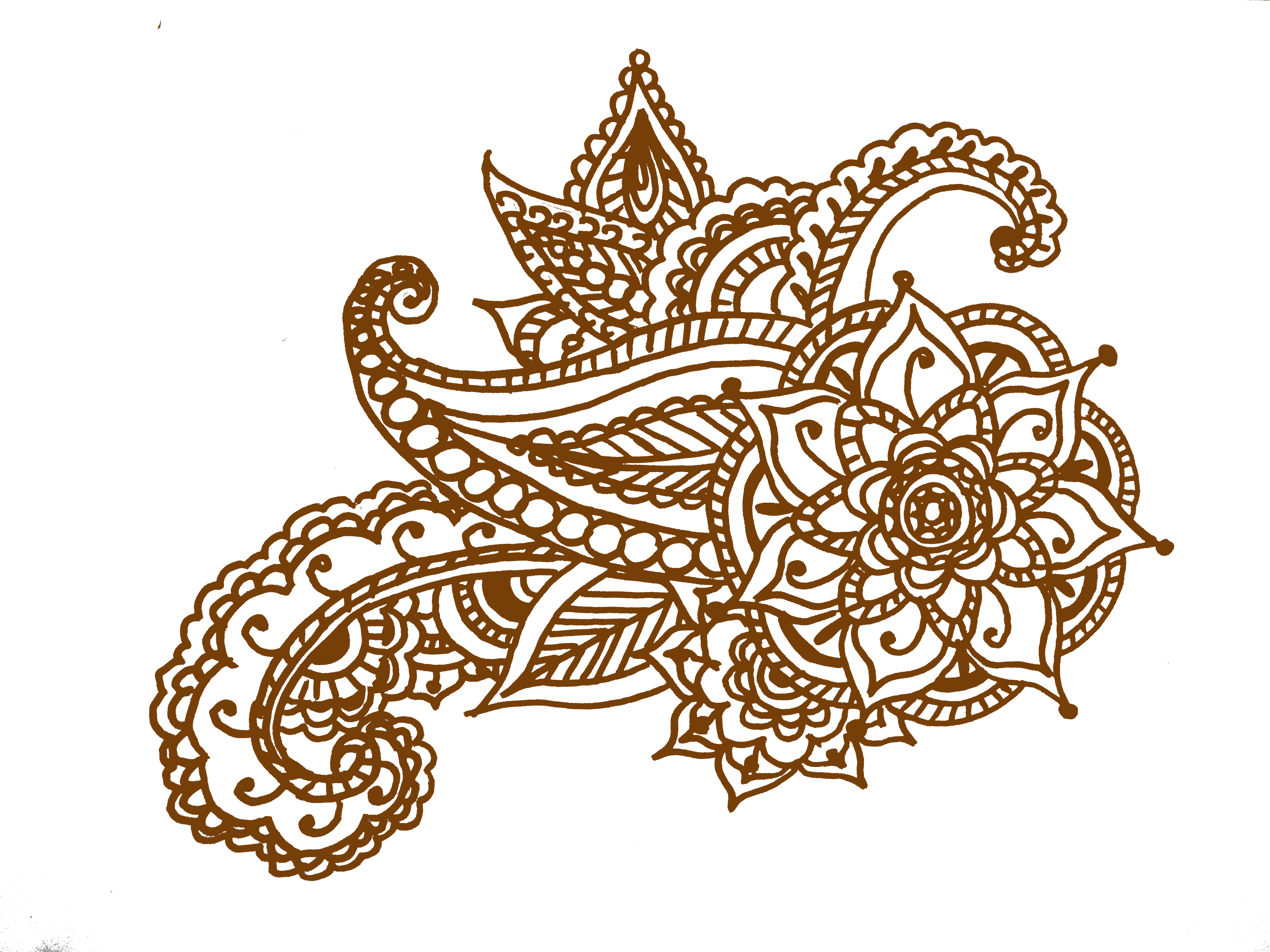 Paisley flower clipart png black and white easy henna foot designs | Small Henna Designs For Hand Feet Arabic ... png black and white