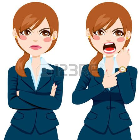 Her angry face clipart image free download angry face: Arriving late concept, angry businesswoman pointing ... image free download