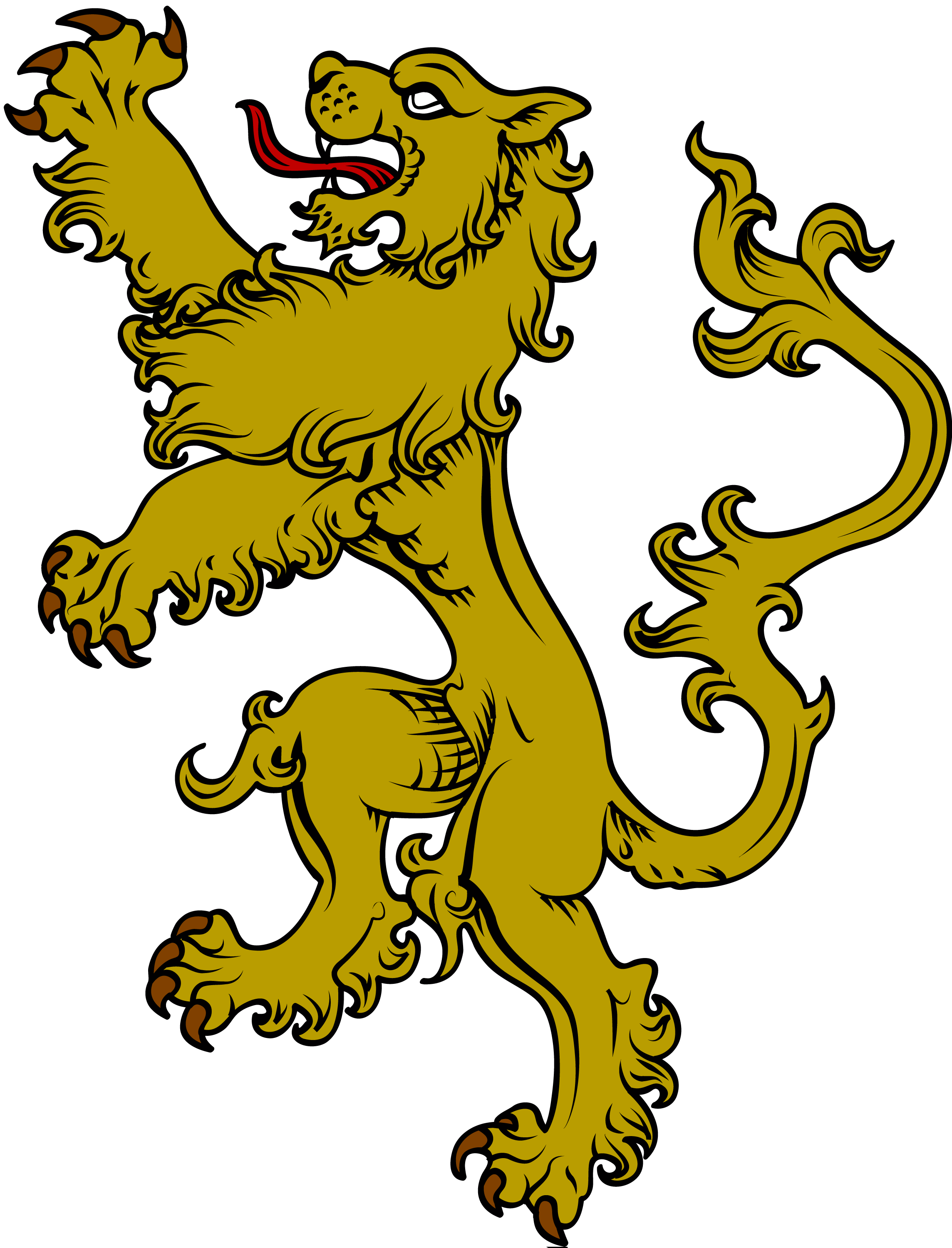 Heraldry crown clipart vector clipart download The symbol of a lion is very common in heraldry and is used most ... clipart download