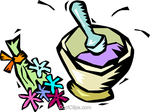 Herbal medicine clipart graphic library herbal medicine with mortar and pestle Royalty Free Vector Clip Art ... graphic library