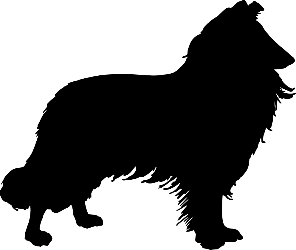 Herding border collie silhouette black and white clipart free collie silhouette | Use these free images for your websites, art ... free