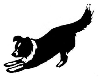 Herding border collie silhouette black and white clipart clip freeuse stock Border Collie Clipart | Free download best Border Collie Clipart on ... clip freeuse stock