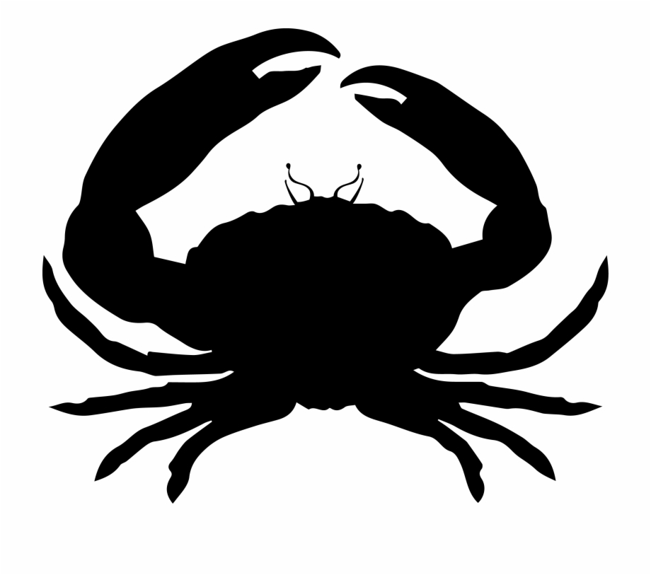 Hermit crab clipart black and white no background graphic library download Crab Silhouette - Silhouette Crab Transparent Background Free PNG ... graphic library download