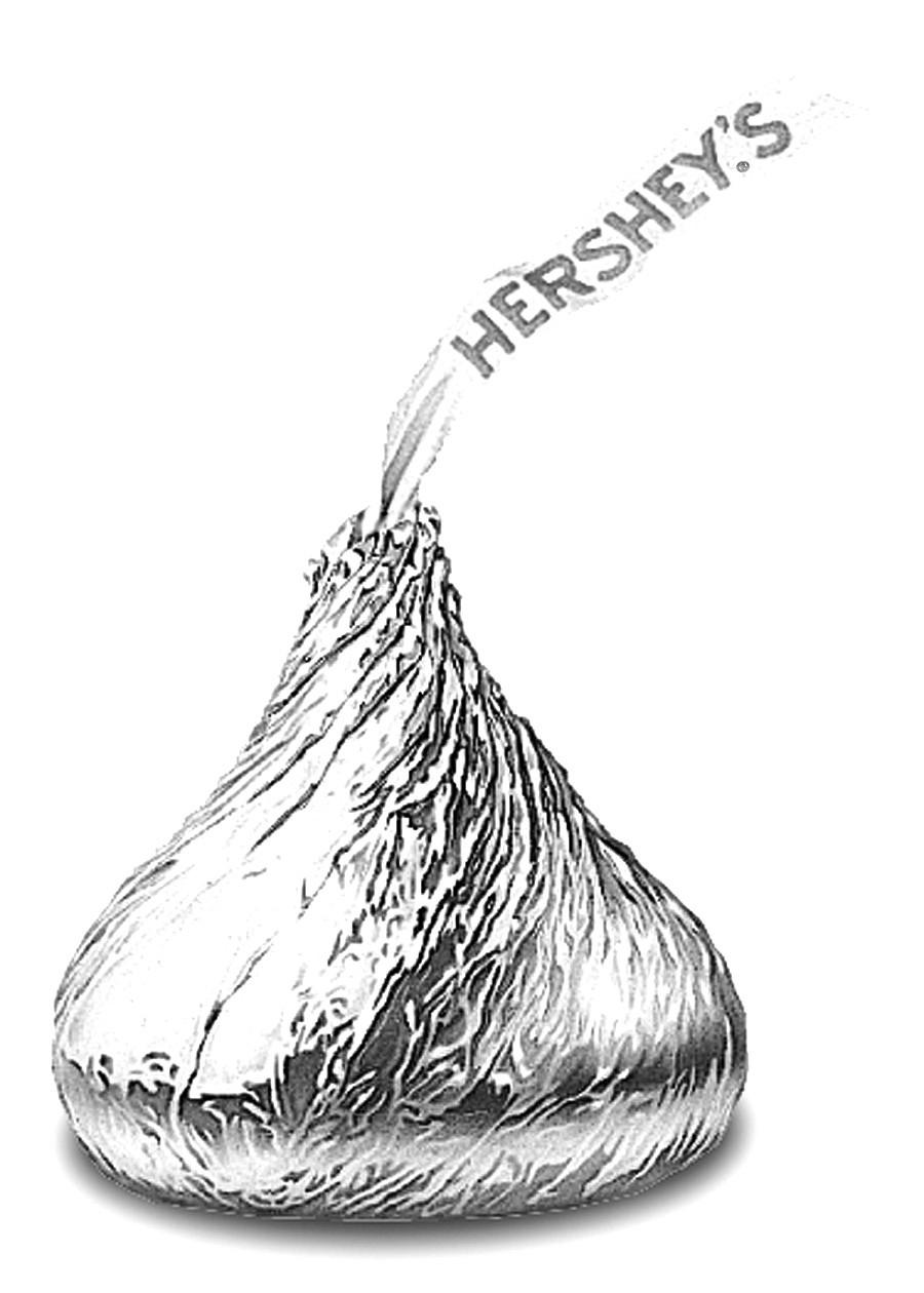 Hershey kiss clipart black and white svg black and white download Hershey Kiss Clipart | salaharness.org svg black and white download