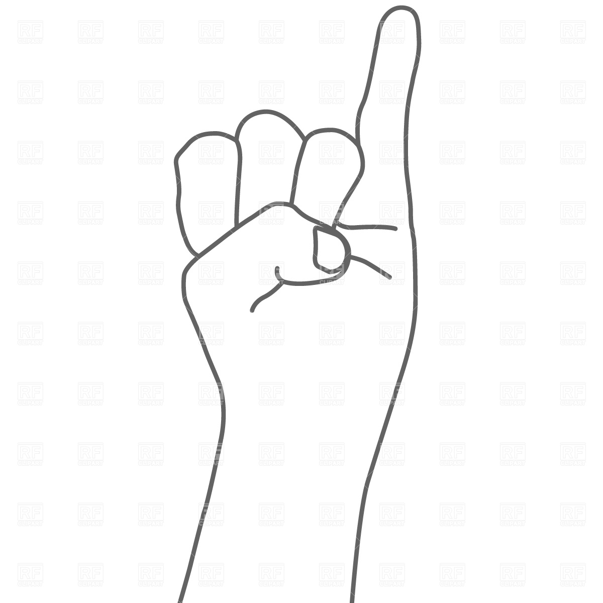 Hertha pointer clipart svg black and white Pointer finger and pinky finger clipart images - ClipartFest svg black and white