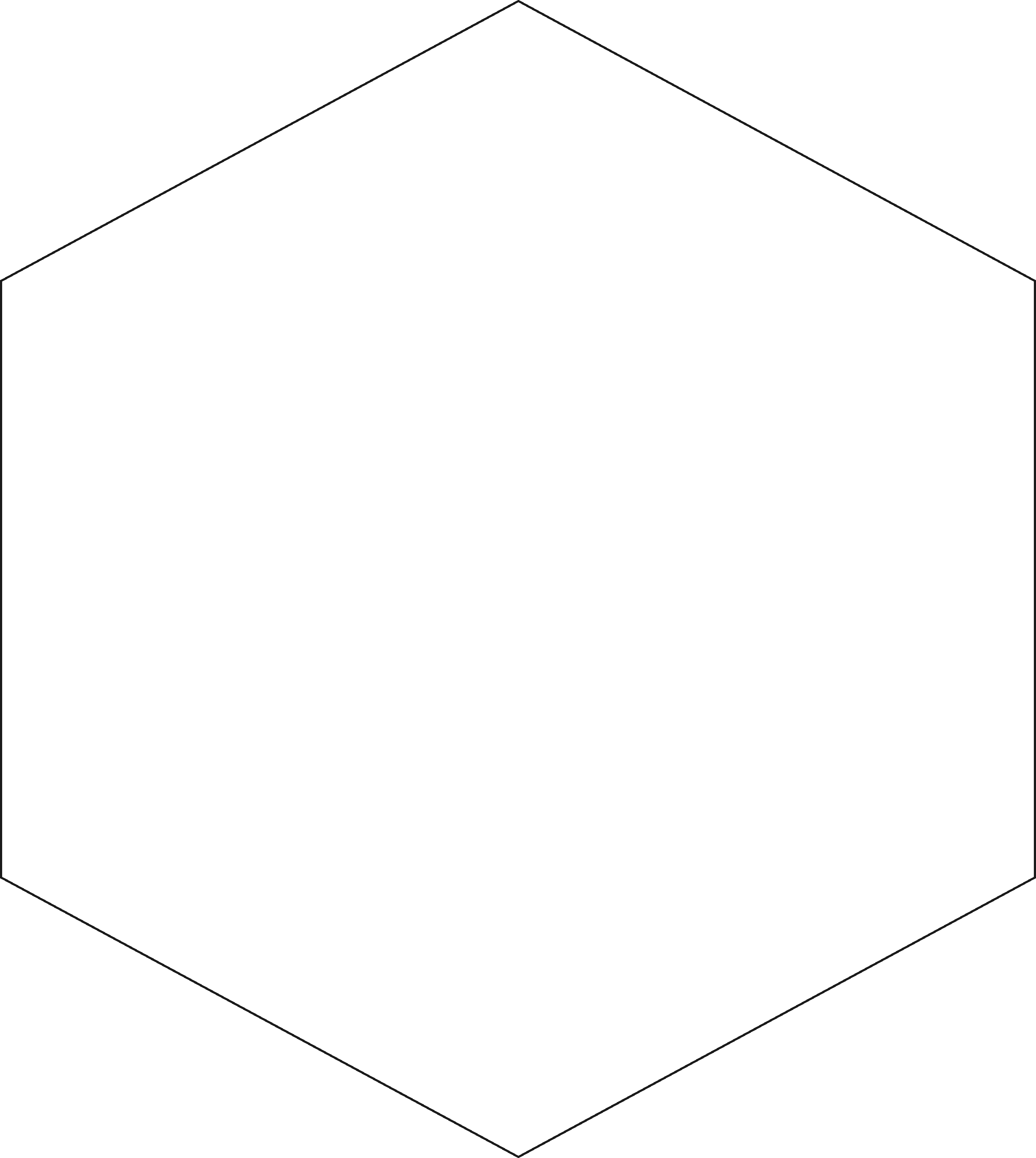 Hexagon clipart black and white picture transparent library Free Hexagon, Download Free Clip Art, Free Clip Art on Clipart Library picture transparent library