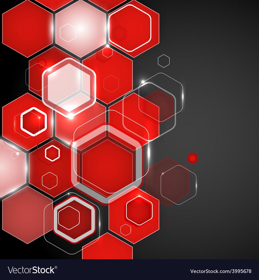 Hexagon vector clipart vector free Abstract red background hexagon vector free