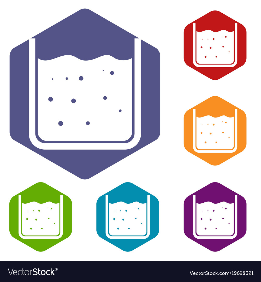Hexagon vector clipart svg library library Beaker filled with liquid icons set hexagon svg library library