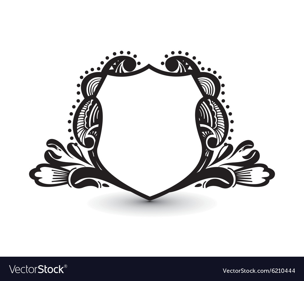 Hi res shield clipart oval jpg royalty free Ornate heraldic shields vector image on VectorStock jpg royalty free