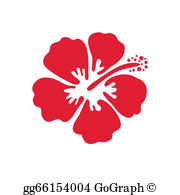 Hibiscus clipart images vector Hibiscus Clip Art - Royalty Free - GoGraph vector
