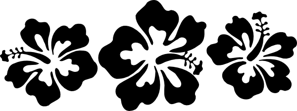 Hibiscus flower and paisley clipart black and white clip art transparent Pin by Melanie Taylor on Sketch Me | Hibiscus clip art, Flower ... clip art transparent