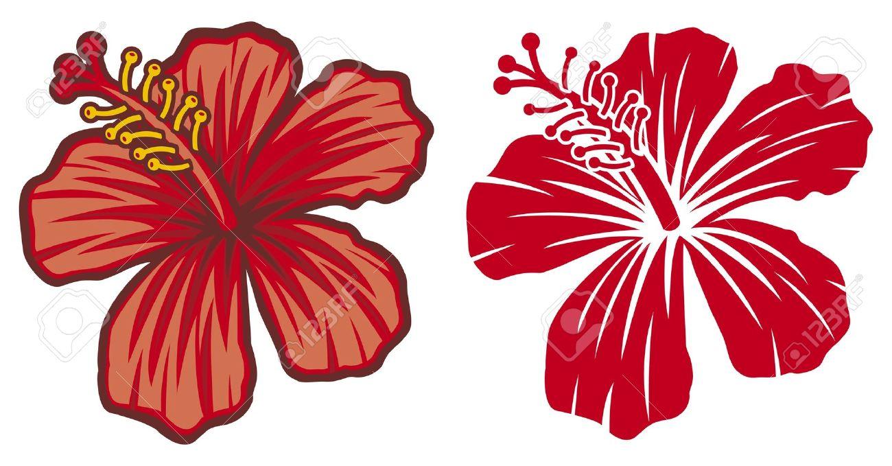 Hibiscus flowers vector art free jpg free stock Hawaiian Flower Vector Free - The Best Flowers Ideas jpg free stock