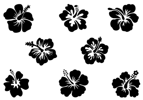Hibiscus flowers vector art free clip black and white library Hawaiian Flower Vector | Free Download Clip Art | Free Clip Art ... clip black and white library
