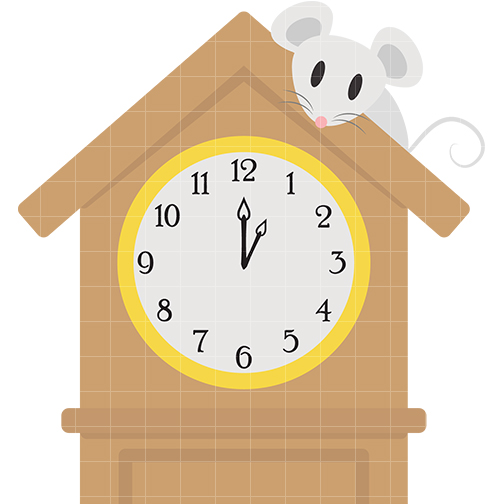 Hickory clipart png black and white Hickory Dickory Dock Clipart - Clip Art Library png black and white
