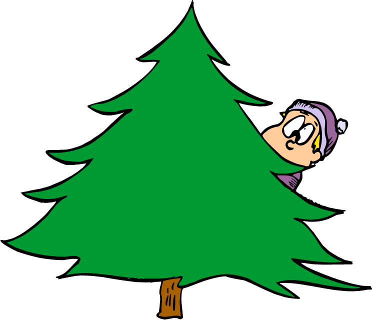 Rockin around the christmas tree clipart royalty free stock 28+ Collection of Boy Behind The Tree Clipart | High quality, free ... royalty free stock