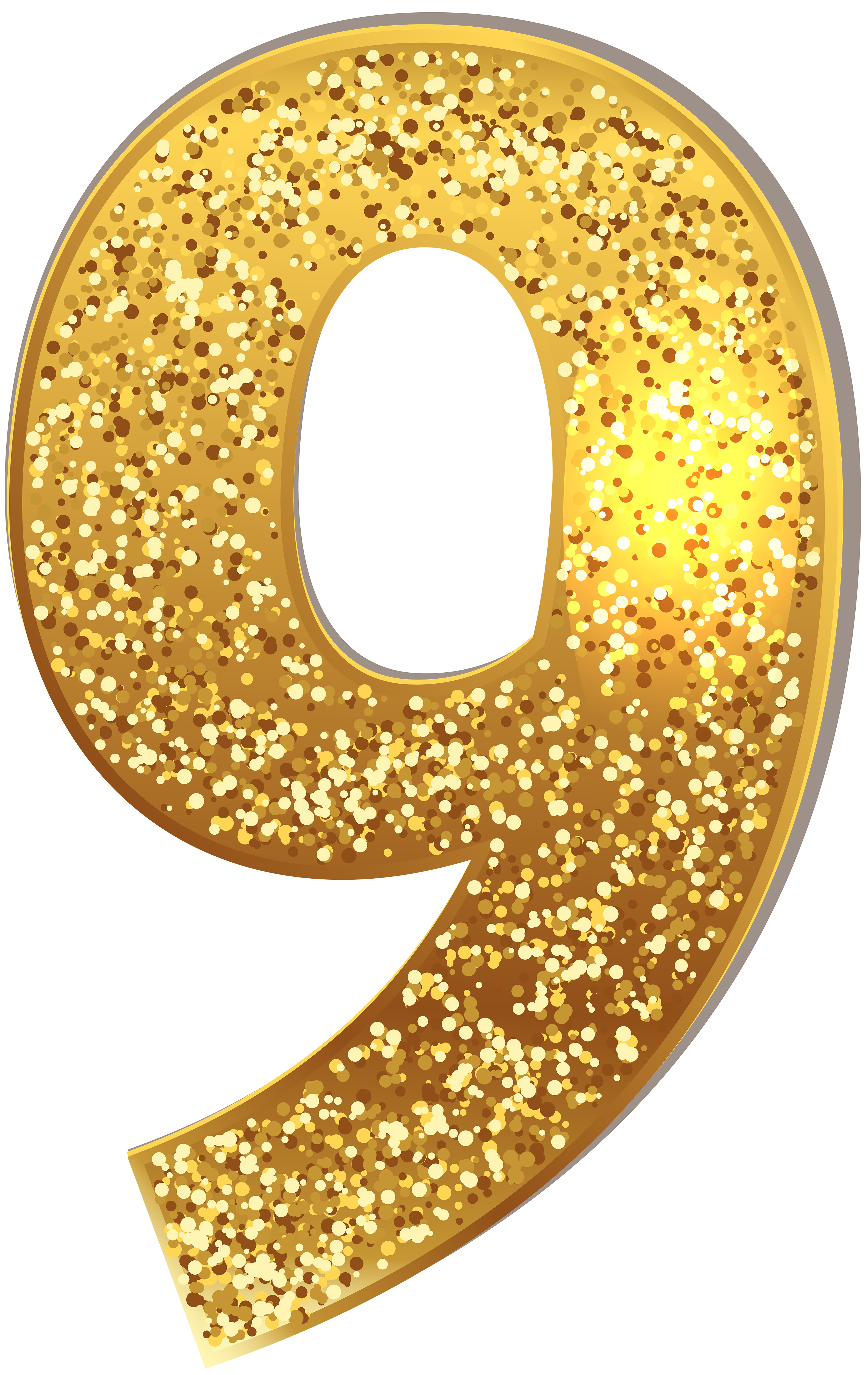 Number Nine Gold Shining PNG Clip Art Image | Gallery Yopriceville ... picture black and white