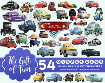 High resolution car clipart picture black and white Disney cars clipart | Etsy picture black and white