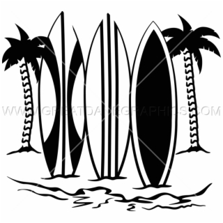 High resolution clipart black & white surfboards graphic transparent stock Surfboards Clip Art - Surfing Board Clipart Hd, HD Png Download ... graphic transparent stock