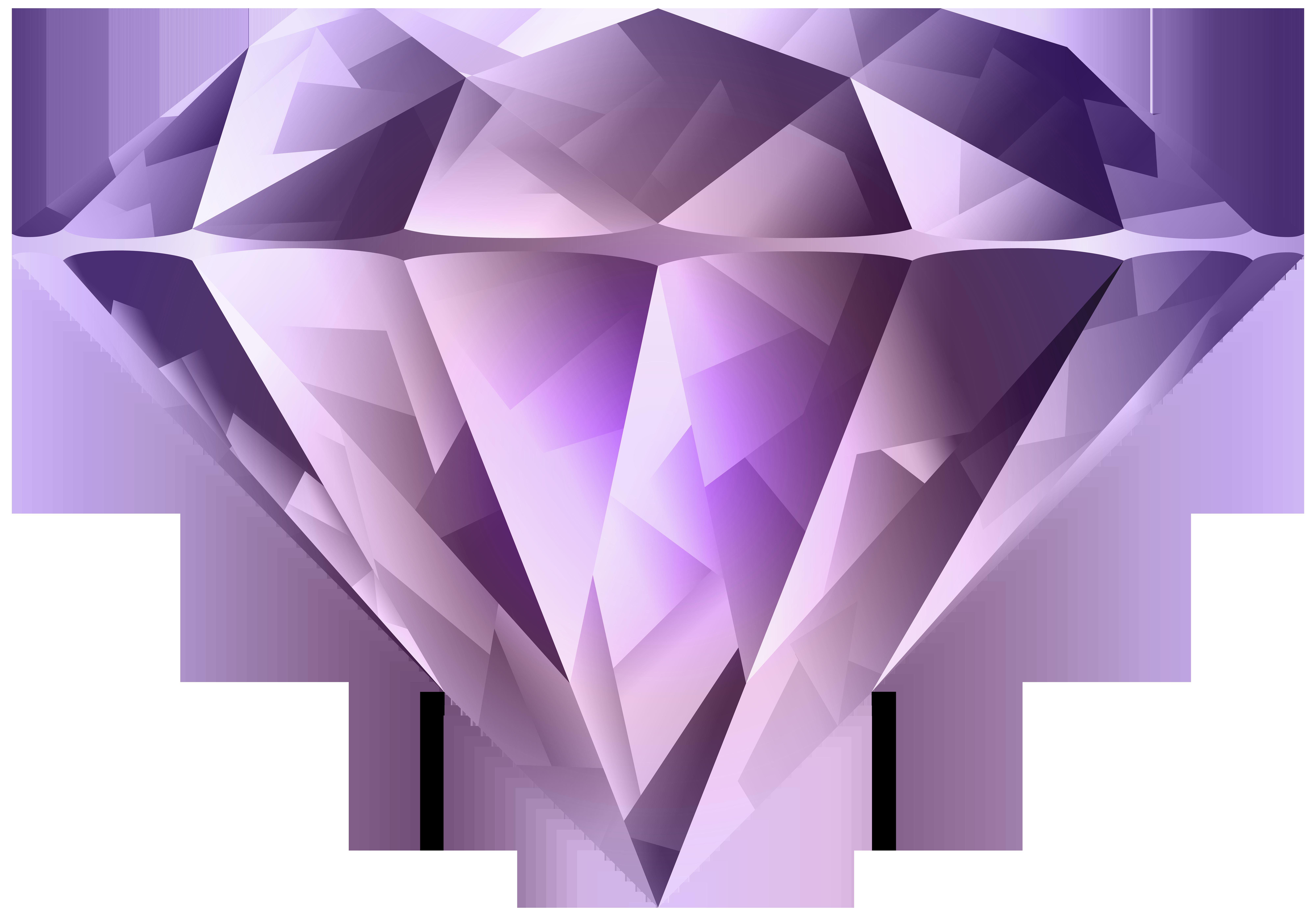 High resolution diamonds clipart line art transparent picture free download Purple Diamond Transparent PNG Clip Art Image | Gallery ... picture free download
