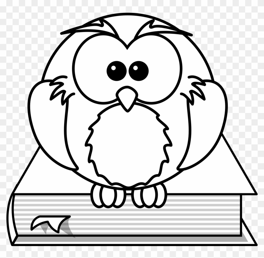 High resolution owl clipart svg royalty free library Lemmling Cartoon Owl Sitting On A Book - High Resolution ... svg royalty free library