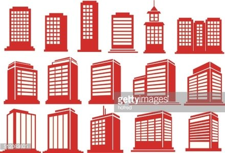 High rise clipart clipart black and white High Rise Buildings Vector Icon Set premium clipart ... clipart black and white