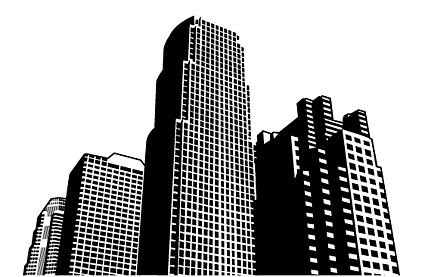 High rise clipart jpg black and white Free City high-rise buildings Clipart and Vector Graphics ... jpg black and white