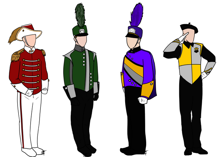 High school marching band clipart clip black and white stock Choosing the Right Hat for a Marching Band Uniform – Publisher Ark clip black and white stock