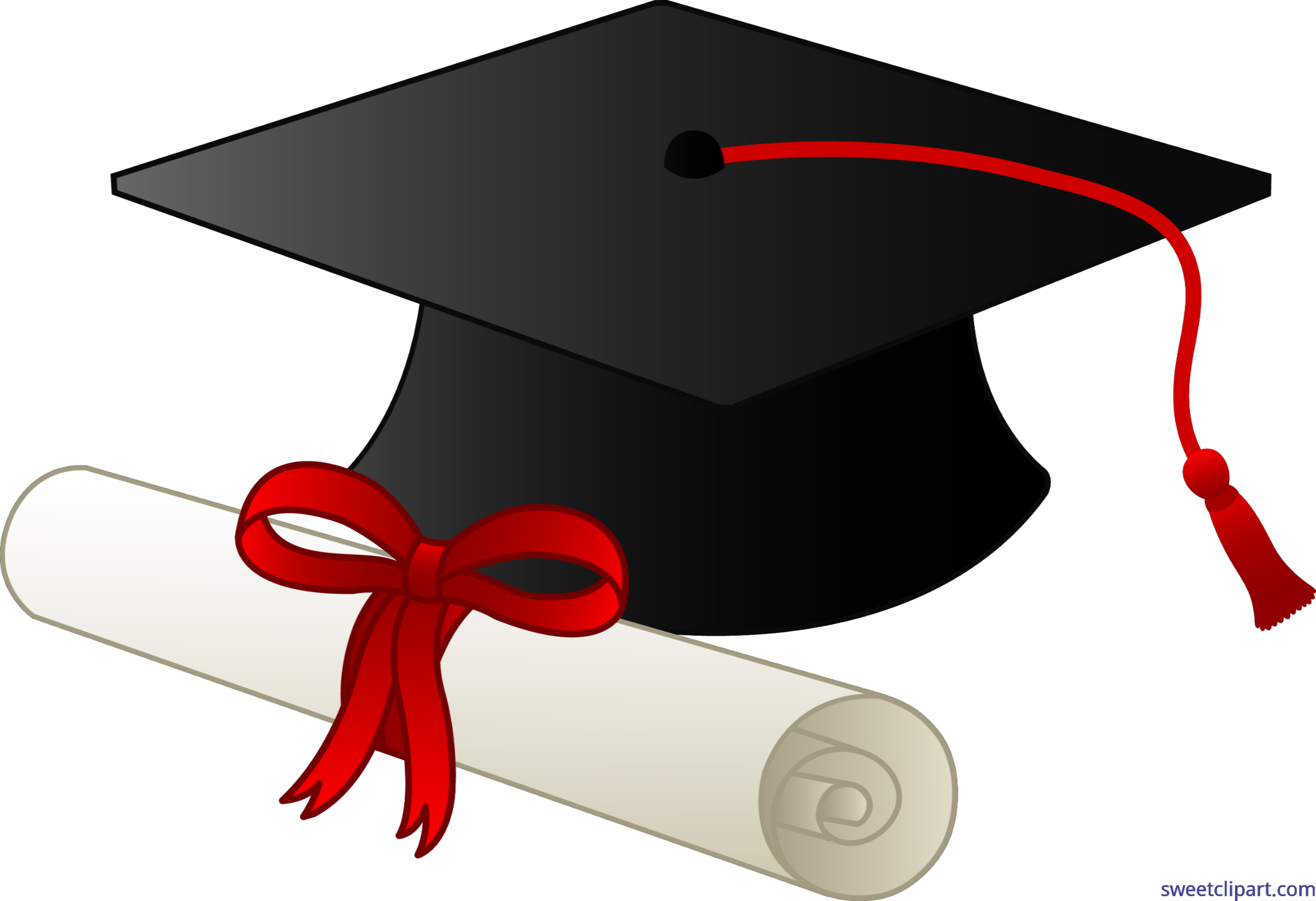 High school diploma clipart banner freeuse download Graduation Cap And Diploma Clip Art - Sweet Clip Art banner freeuse download