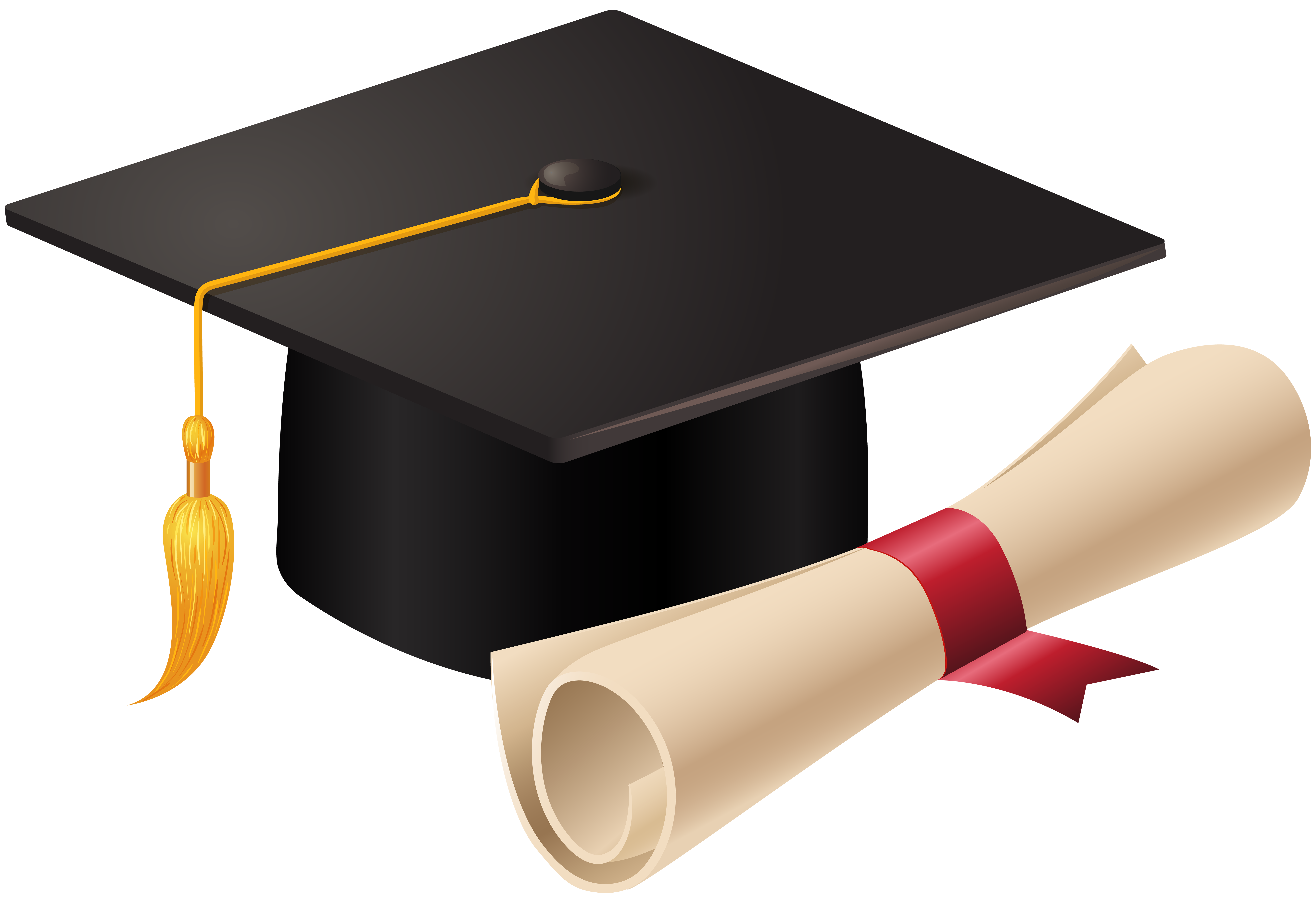 High school diploma clipart jpg library library Graduation Cap and Diploma PNG Clip Art | Gallery Yopriceville ... jpg library library