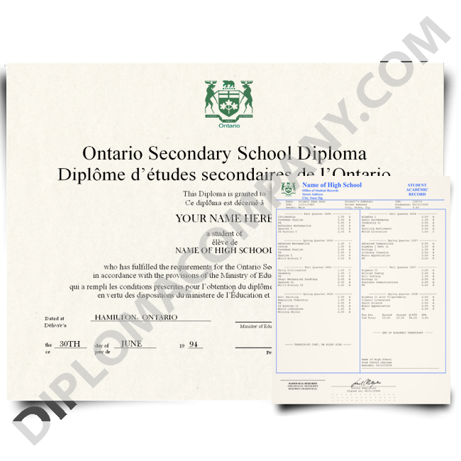 High school diploma clipart graphic royalty free library Fake Canada High School Transcripts | DiplomaCompany.com graphic royalty free library