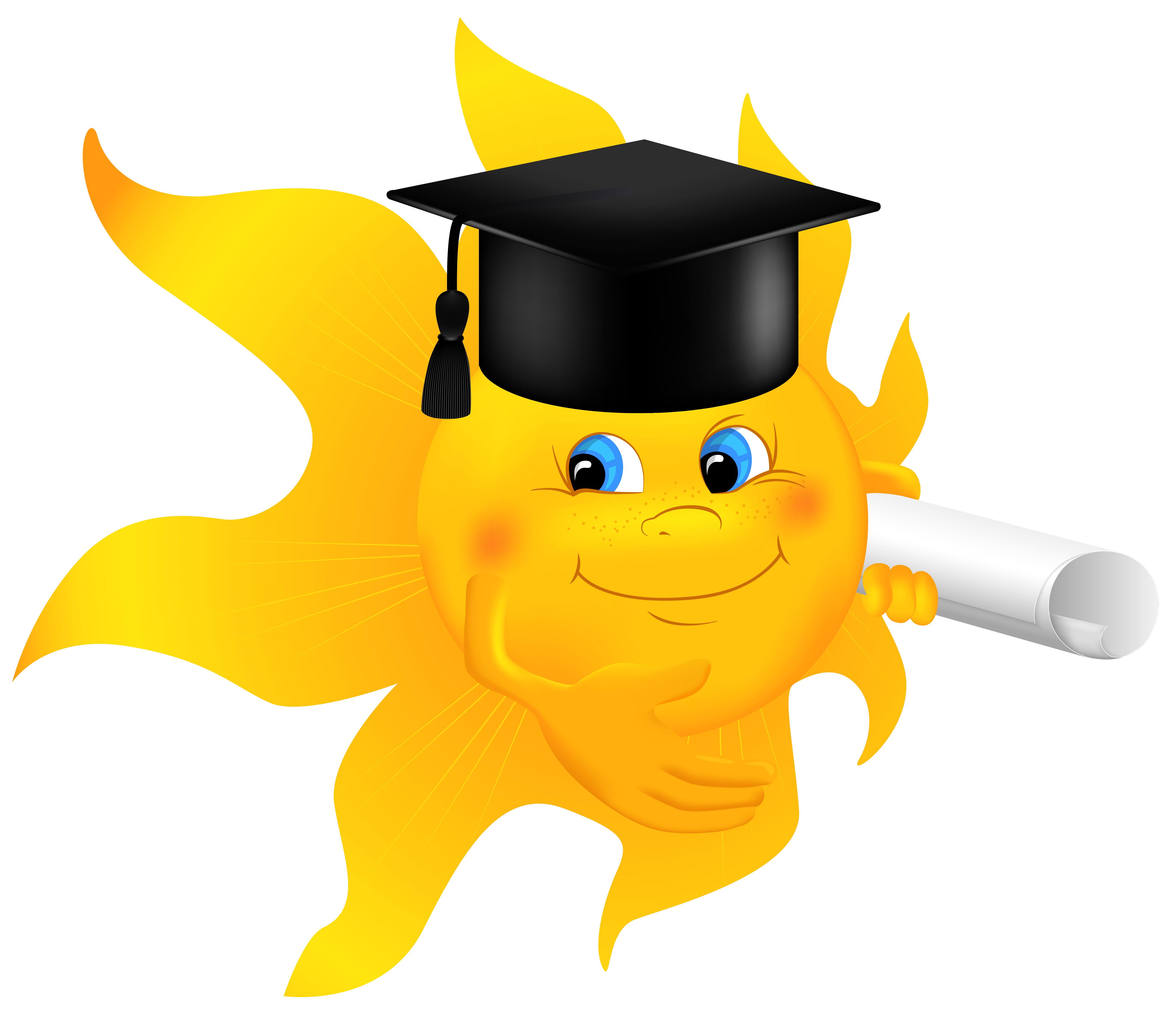 School sun clipart jpg transparent Sun with Diploma PNG Clipart Image | Gallery Yopriceville - High ... jpg transparent