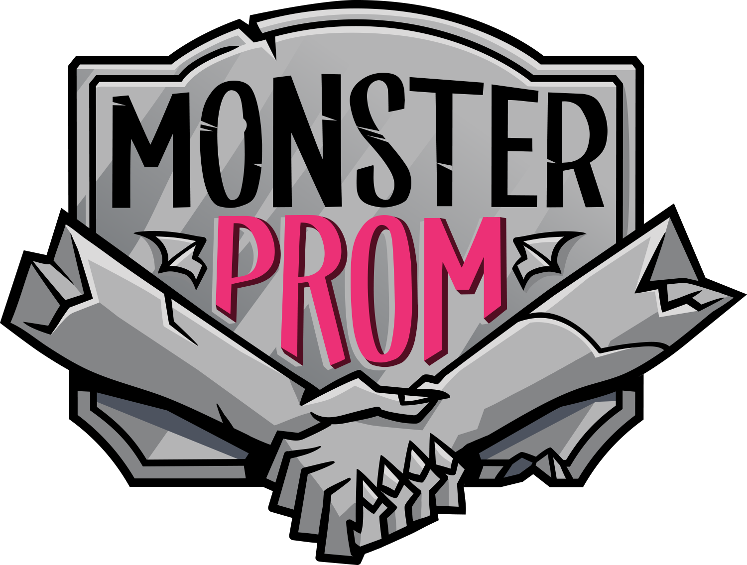 High school prom clipart vector black and white Monster Prom vector black and white