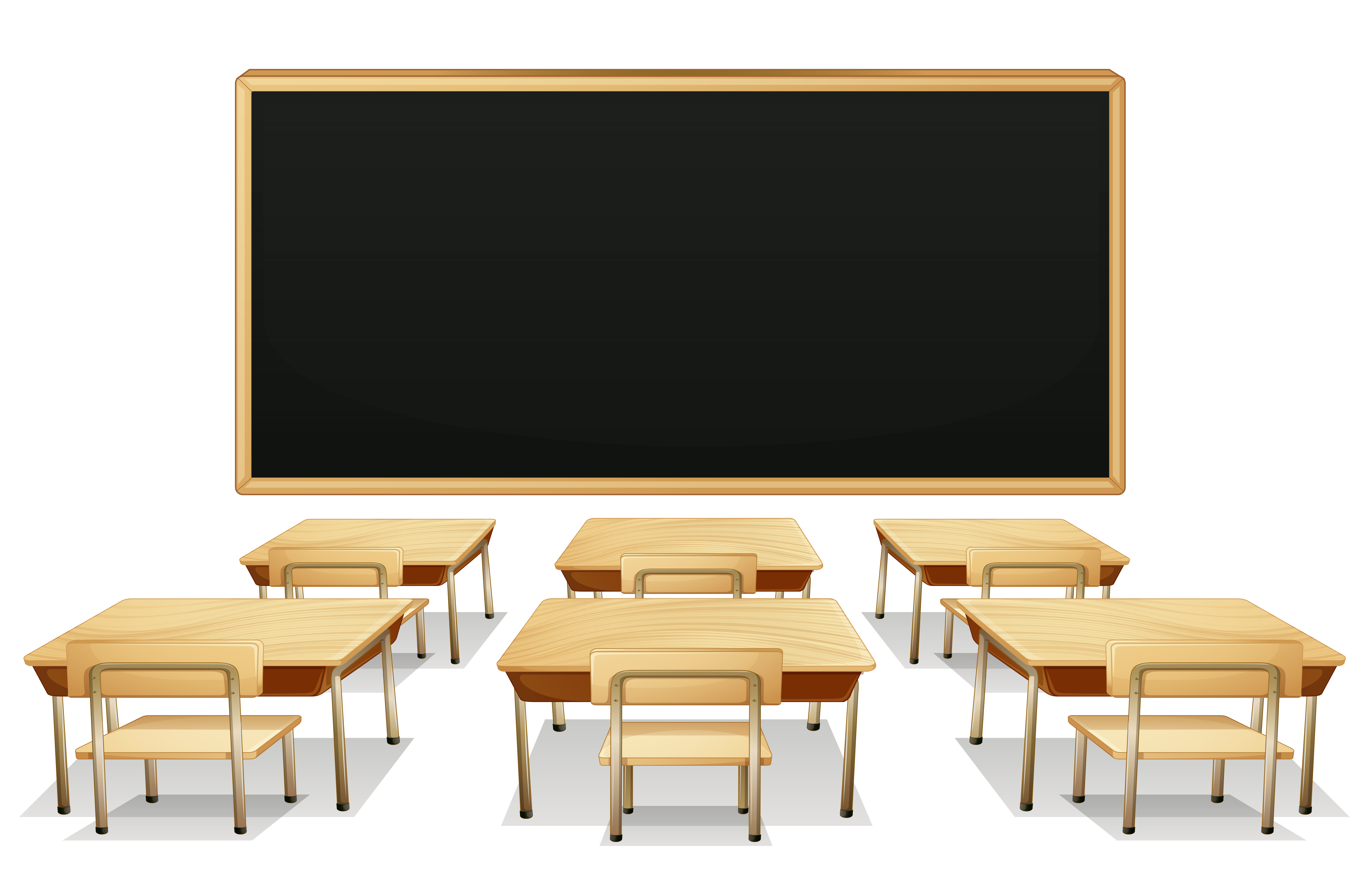 School tables clipart image library download School Classroom with Blackboard and Desks PNG Clipart Picture ... image library download