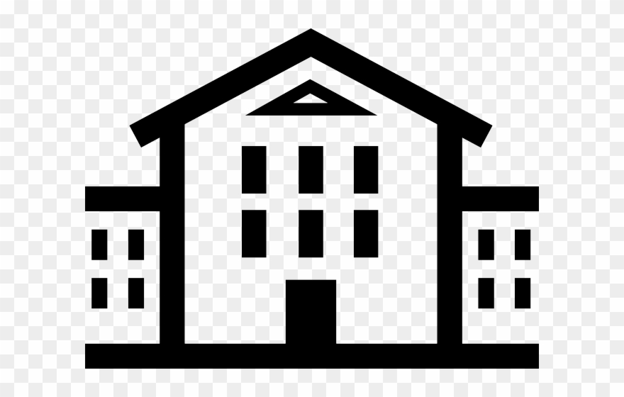 High school students clipart black and white vector library stock White House Clipart High School Building - Png Download ... vector library stock
