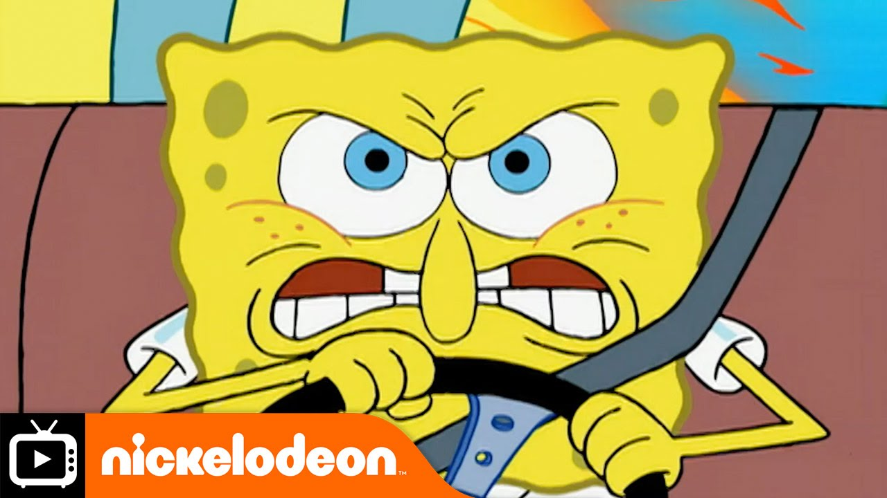 High speed car chase clipart png royalty free library SpongeBob SquarePants | Car Chase | Nickelodeon UK - YouTube png royalty free library