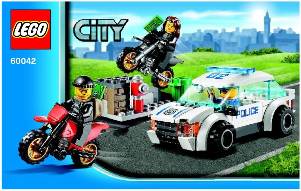 High speed car chase clipart png freeuse stock LEGO High Speed Police Chase Instructions 60042, City png freeuse stock