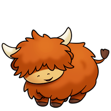 Highland cattle clipart freeuse download cute fluffy highland cow | highland cow | Animal drawings ... freeuse download