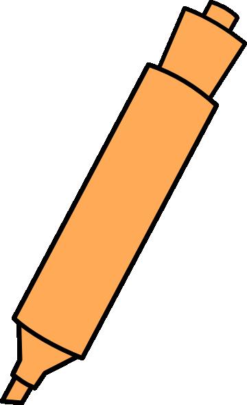 Highlighter clipart clipart free download Orange Highlighter Clip Art at Clker.com - vector clip art ... clipart free download