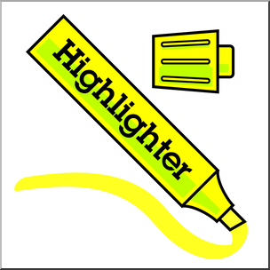 Highlighter clipart image library stock Clip Art: Highlighter Color 1 I abcteach.com | abcteach image library stock
