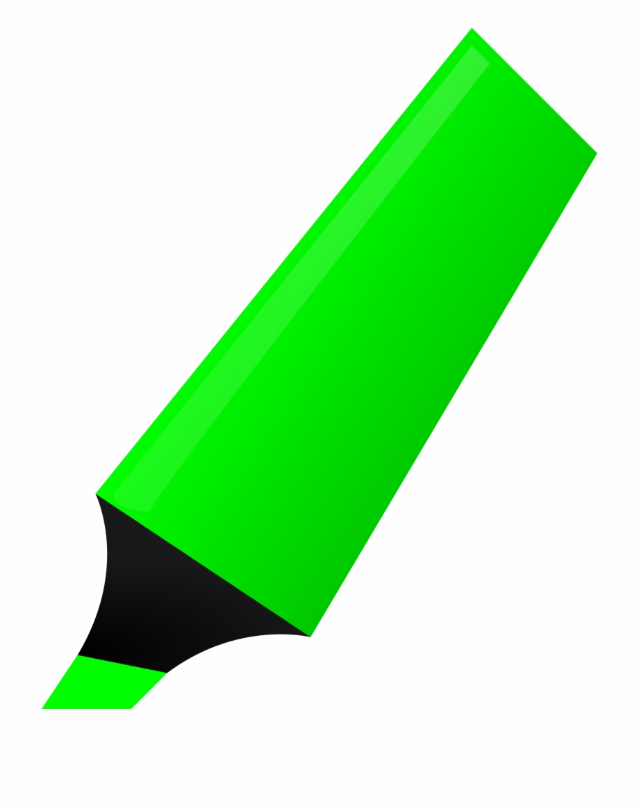 Highlighter clipart clip art black and white stock Green Big Image Png - Green Highlighter Clipart Free PNG ... clip art black and white stock