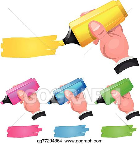 Highlighting clipart graphic library library Vector Stock - Felt tip pen highlighting discount . Clipart ... graphic library library